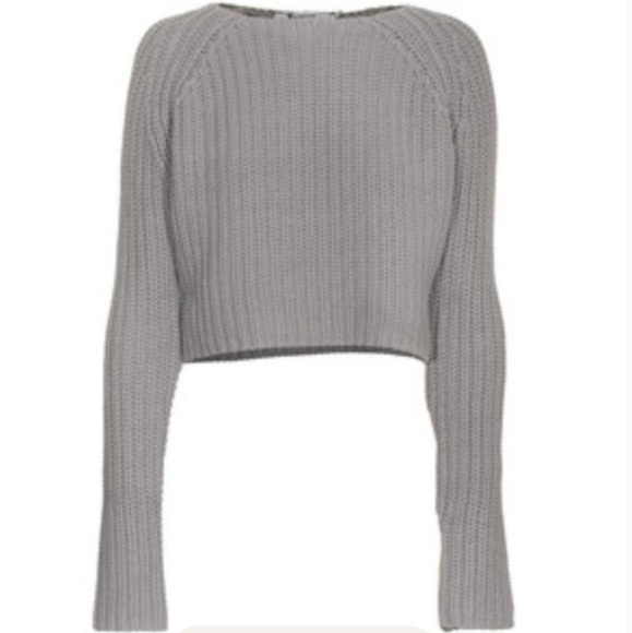 Alexander Wang Crop Chunky Knit Sweater